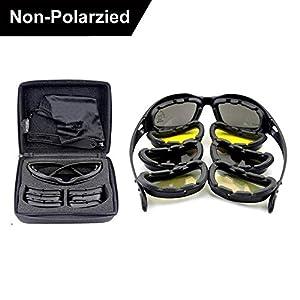 Daisy C5 armée lunettes polarisées 4 Lens Kit, Sports de plein air jeu de guerre militaire lunettes de soleil moto vélo pour hommes