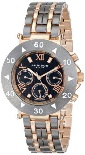 Akribos XXIV Women's AK686GN Conqueror Two-Tone Bracelet Watch