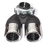 Doppelendrohr 2 x 60 mm für alle Modelle 450 bis 4.2007 Benzienr, Turbo und Diesel ,Auspuffblende aus Edelstahl, mit Absorber, mit ABE