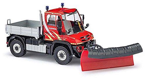 Busch 50914 - MB Unimog U430 Feuerwehr/Schneeschieber, Fahrzeug