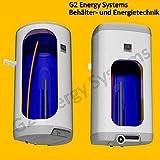 80 L Liter elektrischer Boiler, Warmwasserspeicher wandhängend Heizleistung 2,0 kW verschleißfreier Keramikheizstab