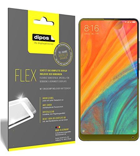 dipos I 3X Schutzfolie 100% passend für Xiaomi Mi Mix 2S Folie (Vollständige Bildschirmabdeckung) Bildschirmschutzfolie