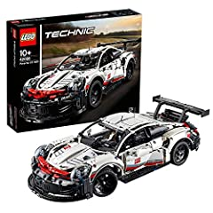 Idea Regalo - LEGO Technic Porsche 911 RSR, Sviluppata in Collaborazione con Porsche, Autentico Modello, Set di Costruzioni per Ragazzi di 10 Anni e Veri Appassionati di Automobili e Motori, 42096
