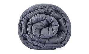 Leefun Gewichtsdecke Schwere Decke für Erwachsene und Kinder Gegen Schlafstörung und Stress Therapiedecke, Weighted Blanket für 70-100kg Personen (150x200cm,9.1kg)