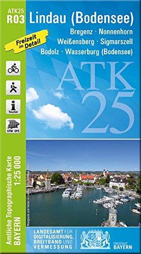 ATK25-R03 Lindau (Bodensee) (Amtliche Topographische Karte 1:25000): Bregenz, Nonnenhorn, Sigmarszell, Bodolz, Wasserburg (Bodensee) (ATK25 Amtliche Topographische Karte 1:25000 Bayern)