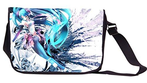 Siawasey Hatsune Miku Vocaloid Anime Cosplay Messenger Bag Umhängetasche Tasche Handtasche Schultertasche (Brieftasche Handtasche Fall)