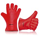 High Quality Cooking Gloves Heat Resistant Silicone Set for Using as Pot holders - Oven Mitts - Smoking and BBQ Grilling Gloves from Magiküchen -