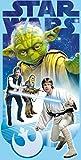 Handtuch Strandtuch Badetuch mit Star Wars Yoda Motiv, 70x140cm, Baumwolle
