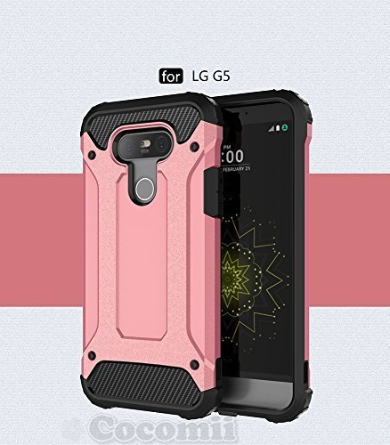 LG G5 Hülle, Cocomii Commando Armor NEW [Heavy Duty] Premium Tactical Grip Dustproof Shockproof Hard Bumper Shell [Military Defender] Full Body Dual Layer Rugged Cover Case Schutzhülle VS987 H820 LS992 H830 US992 H850 (Rose Gold)