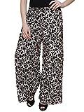 DAMEN MODE Women's Flared Pants (DMPP1000_Black_Free Size)
