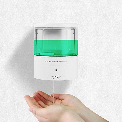 ONEVER Batteriebetriebene 600ml Wandmontage Automatische IR-Sensor Seifenspender Ber¨¹hrungsfreie K¨¹Che Seifen-Lotion-Pumpe f¨¹r K¨¹Che Badezimmer