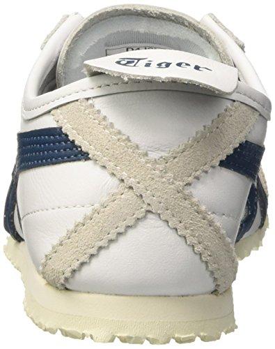 Baskets Asics Mexico 66, Baskets Basses Sport Unisexe-multicolore (blanc / Bleu Encre)