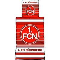 1. FCN / 1. FC Nürnberg Bettwäsche Biber 'Streifenspiel'