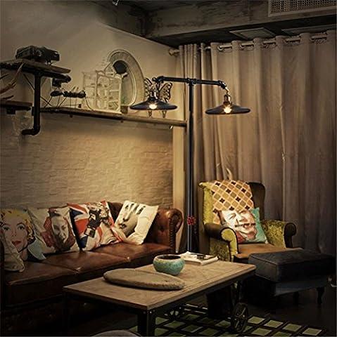 BZJBOY Lampadaire Universal Lighting et Decor Torchère avec 2-Lights, Fer