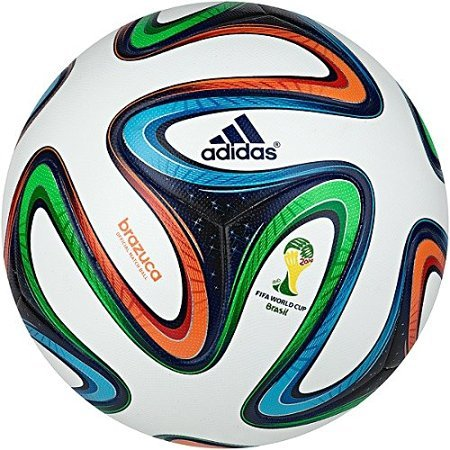 Generic(Unbranded)Adidas ADIDG736175 Brazuca (Replica) Fifa 2014 World Cup Official Match Soccer Ball, Size 5 (Multicolour)  available at amazon for Rs.360