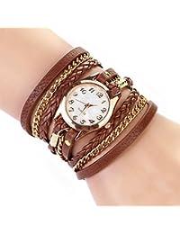 Armbanduhr damen leder braun  Suchergebnis auf Amazon.de für: wickelarmbanduhr: Uhren