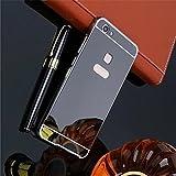 D-Kandy Luxury Metal Bumper + Acrylic Mirror Back Cover Case for Vivo V7 Plus (Black)