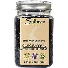 Entspannungsbad CLEOPATRA - Aktivkohle Milchbad - Skineco Natural Cosmetics - Aktiv Kohle Seife
