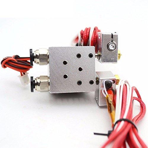 CUHAWUDBA Cabezal extrusor metálico de Doble Cabezal para Impresora 3D Compatible con Cabezal de impresión v5v6