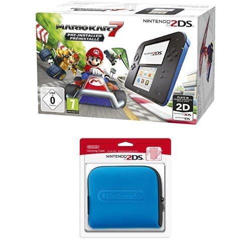 Pack Console Nintendo 2DS + Mario Kart 7 + Pochette de transport