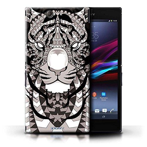 Kobalt® Imprimé Etui / Coque pour Sony Xperia Z Ultra / Loup-Rouge conception / Série Motif Animaux Aztec Tigre-Mono
