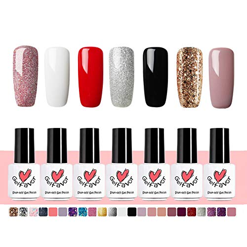 Gelfavor Nail Art UV Kit esmalte uñas gel, Blanco