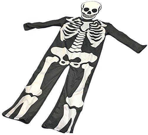 Skeleton Halloween-Kostüm und Maske Kinder (5-6 (Kostüme Uk Halloween Jungen)