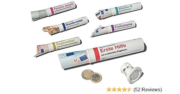 + Sechs lustige Motive MIX SET Nr + Set 2 2 zum Geld-verschenken Geld + /& Geschenkr/öhrchen im Medikamenten-Stil 6er-Set SCHERZBOURIQUE