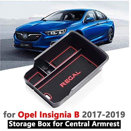 LDXCT Caja de Almacenamiento de la Consola Central del Coche Caja de reposabrazos El Almacenamiento Auxiliar es Adecuado para Opel Insignia B 2017-2019