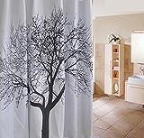 GZD creativo ispessimento impermeabile cortina di Bagno Black Tree domestica Tenda della doccia (1 pacchetto di 2) , 180*180