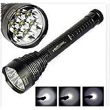 Fuloon - Lampe de torche 8500 lumens avec 7 * CREE XML T6 LEDs - 5 modes différents - fonctionne 5 heures continuellement + étui + extenseur + joint torique