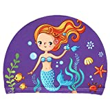 ruiruiNIE Bambini Berretto da Nuoto Cute Cartoon Animal Stampe Orecchie protettive Impermeabili Poliestere Leggero Leggero Accessorio da Nuoto Unisex