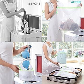 Comsun Wäschenetze Set, Premium Wäschebeutel, Wäschesack, Wäschetasche Mit Reißverschluss, Ideal Für Für Waschmaschine, Wiederverwendbar (Weiß) 1