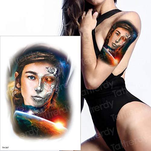 4 Stücke, Horror Uhr Krähe Dunkle Wolken Pyramide Skorpion Tätowierungen Skorpion Tattoo Design Für Männer Frauen Tattoo Kompass Harry Style, Th347 (Harry's Narbe Kostüm)