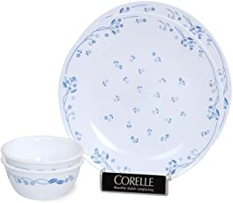 Corelle Provincial Bachelor Glass Dinner Set, 4-Pieces, Blue