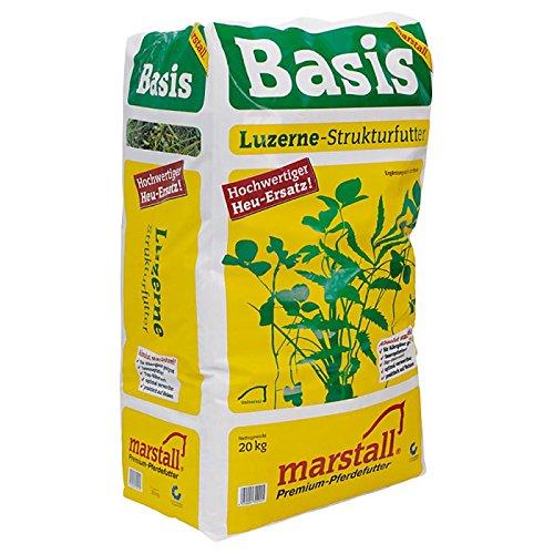 WANGADO Marstall Basis Alimento per cavalli a base di paglia ed erba medica tritata, privo di polvere, da somministrare come alternativa al fieno e come foraggio sostanzioso e proteico