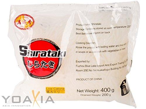 City Aroma - Shirataki schmal - Konjak Spaghetti - 8er Pack (8 x 400g/ATG 200g)