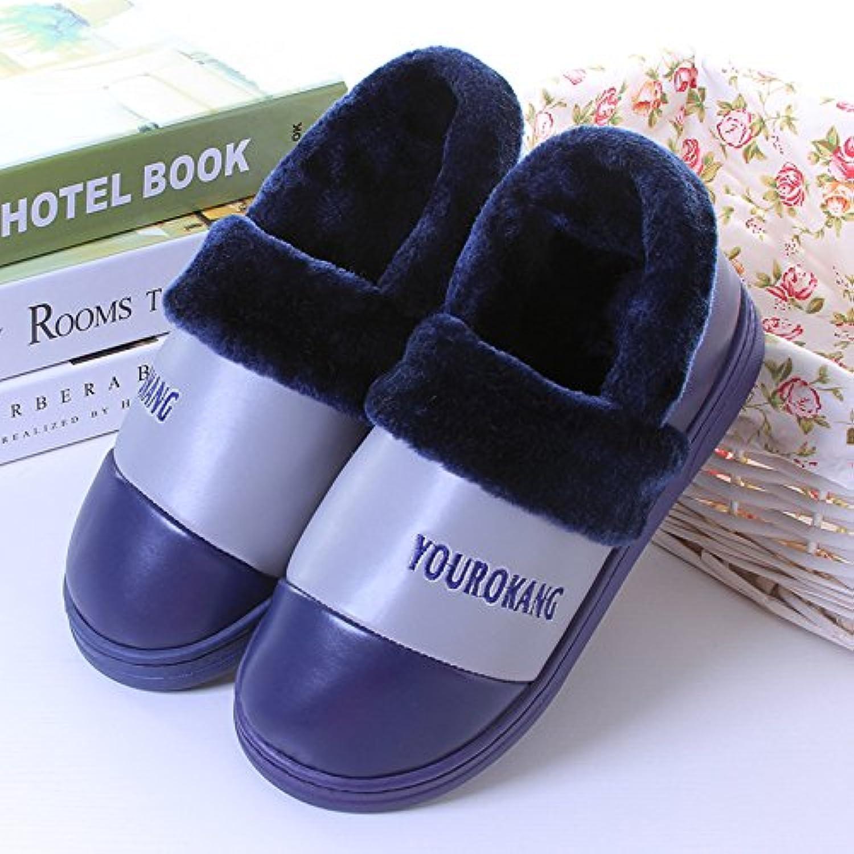 Y-hui en en hiver Chaussons en en coton pour hommes avec chaque femme Chaussures Maison AmeubleHommes t polyuréthane imperméable... - B077HRV6KN - 7d4b6b