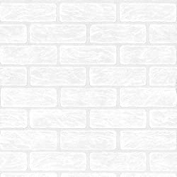 Superfresco Paintable Brick Effect White Wallpaper 93744