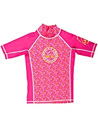 Surfit - Camiseta de manga corta para niña rosa Pink Beach Print Talla:10-11 años