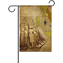 N/A Garten Flagge alte Karte Italien Kalabrien historische Single Side Festival Holiday Decoration12 X 18 Zoll