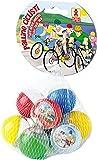 Palline Plastica Dulcop-Biglie Ciclisti 10palline 103320000