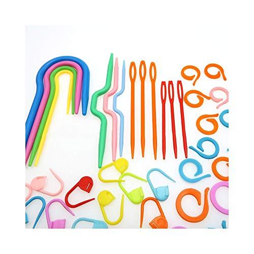 FRJYJLLL Knitting Crochet Kit Nadel Clip Häkelnadel Kunststoff Strickstich HandwerkMarker Werkzeug Nähzubehör Werkzeug -