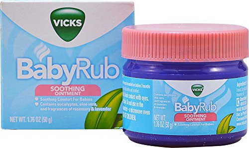 Vicks Baby rub Soothing Ointment Comfort For Babies 1.76 OZ