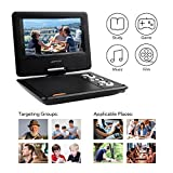 apeman Portable DVD Player, 7.5 for Kids and Car Swivel Screen Support SD card USB CD DVD with AV IN/OUT and Earphone Port 4 Hours Built-in Rechargeable Battery