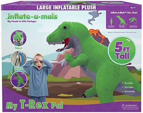 Inflate-A-Mals INF GRN-EU T-Rex Árbol de 1,5 m, Color Verde