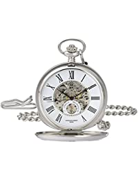 Charles-Hubert, Paris 3973-W Classic Collection Analog Display Mechanical Hand Wind Pocket Watch