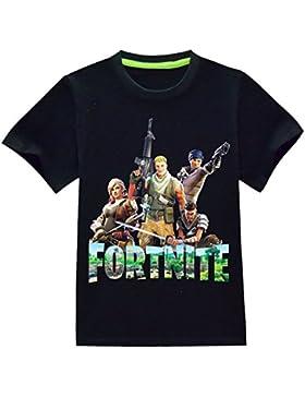 CTOOO Camiseta De Manga Corta De Algodón Fortnite Camisetas Niños