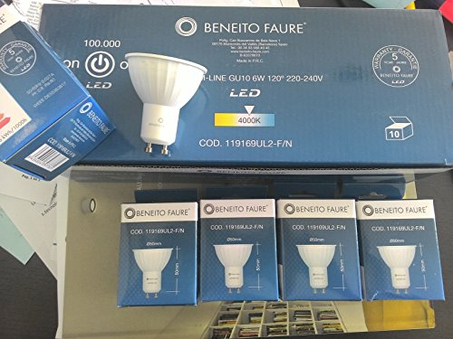 Beneito 6 Watt LED Spot GU10 230V warmton -