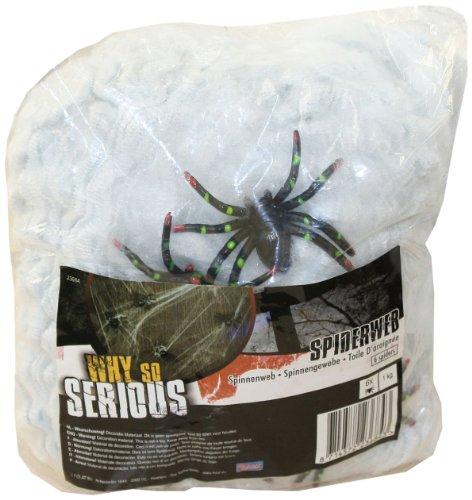 Folat 23684 Spinnenweben mit Spinnen, 500 g, weiß Decoration, ()